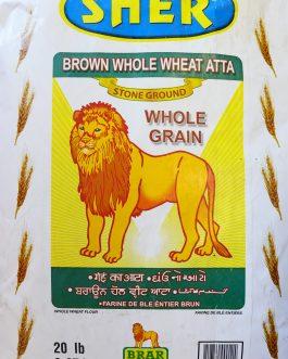 Sher Brown Whole Wheat Atta