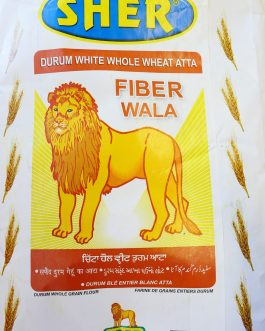 Sher Durum White Whole Wheat Atta