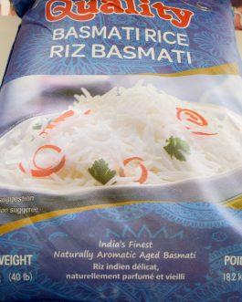 Basmati Rice-Quality 40lb 18.2Kg